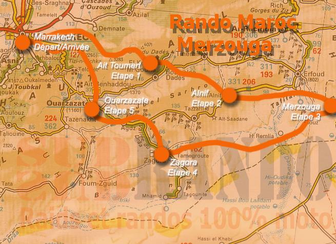 Rando moto Marrakech, les dunes de Merzouga