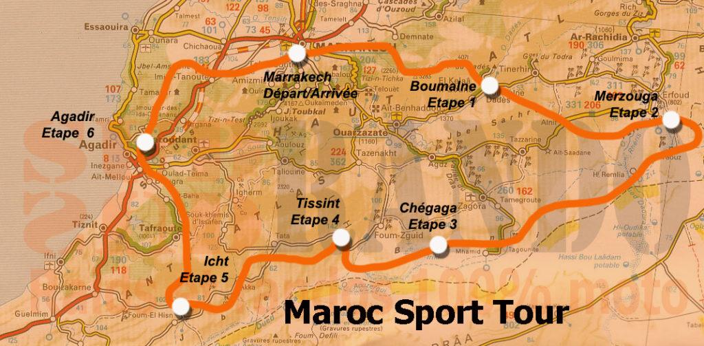 itineraire rando maroc  2,278 km en 6 étapes Marrakech-Marrakech