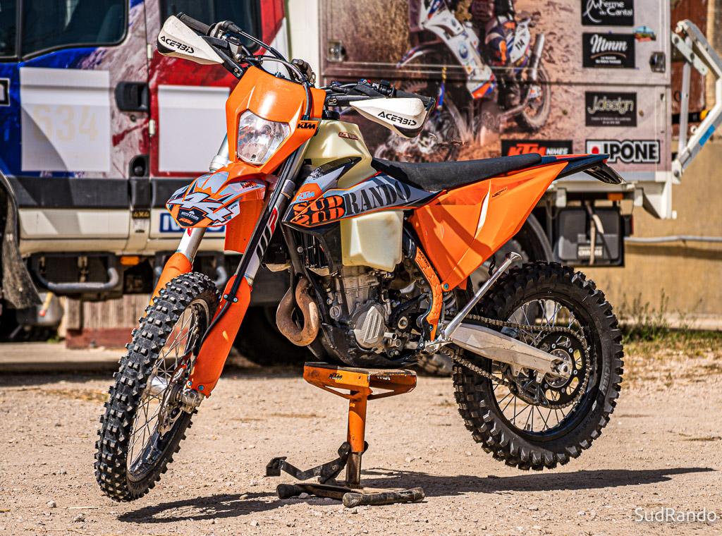 rando moto trail, location KTM 450 EXC
